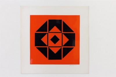 Dimension quadrato, 1971, collage on paper, cm 50 x 50, photo: Danilo Donzelli