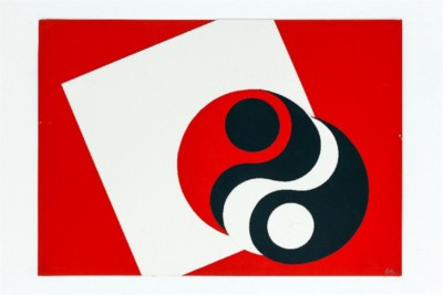 Yin-Yang, 1969-72, collage on paper, cm 50 x 70, photo: Danilo Donzelli