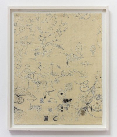 Untitled, 1988-1990, ink on canvas, cm 63 x 49,5 (sheet); cm 70 x 57 (framed), photo: Danilo Donzelli