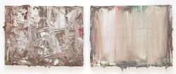 Senza titolo (VI), 2009, oil on canvas, diptych, cm 20 x 30 (each)