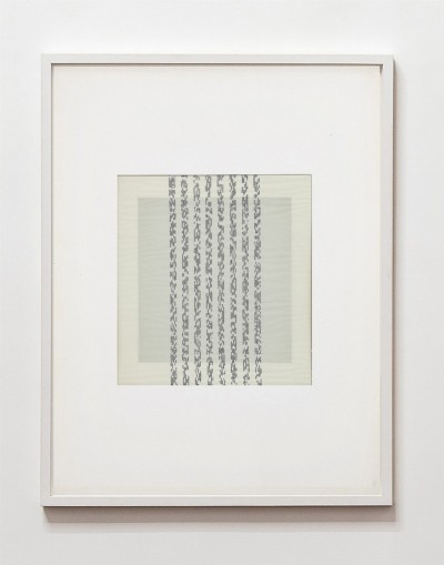 Partitura asemantica, 1973, indian ink on tracing paper,indian ink on paper, cm 73 x 53 (framed), cm 70 X 50 (unframed), photo: Danilo Donzelli