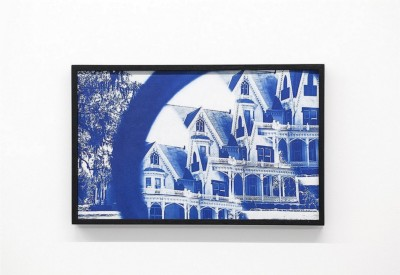 Giovanni Giaretta, Ghost in Daylight, 2019, Cianotype on paper, cm 45,5 x 63,5 (framed)