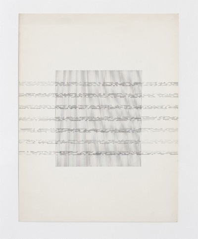 Partitura asemantica, 1974, indian ink on paper, cm 68 x 53 (framed), cm 65 x 50 (unframed), photo: Danilo Donzelli