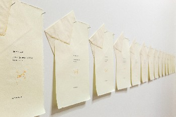 Ti scrivo solo di domenica, 1977, 52 letters typed on Amalfitan paper, cm 34,8 x 26,8 (each), photo: Danilo Donzelli