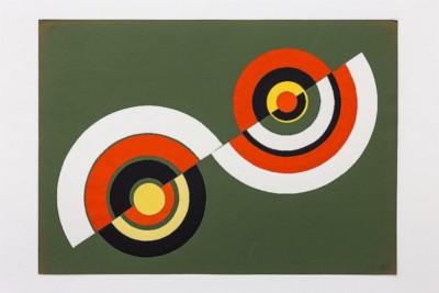Dimensione cerchio, 1969-72, collage on paper, cm 50 x 70, photo: Danilo Donzelli