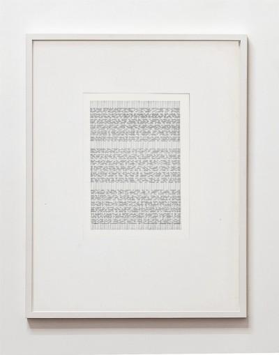 Partitura asemantica, 1974, indian ink on paper, cm 68 x 53 (framed), cm 65 X 50 (unframed), photo: Danilo Donzelli