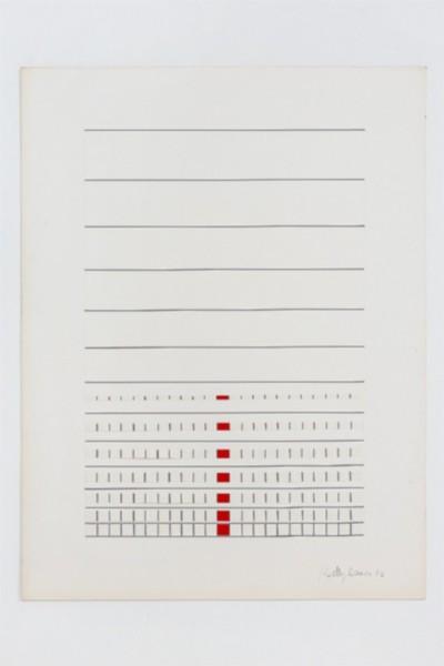 Giochi di linee, 1972, collage on paper, cm 65 x 50, photo: Danilo Donzelli