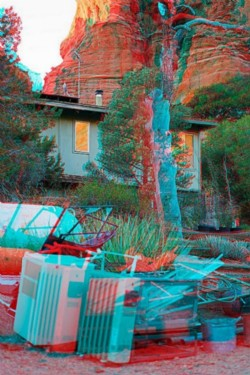 Caretackers' house, before the moving. 2015, anaglyph, cm 60 x 40, ed. 3 + 2 AP
