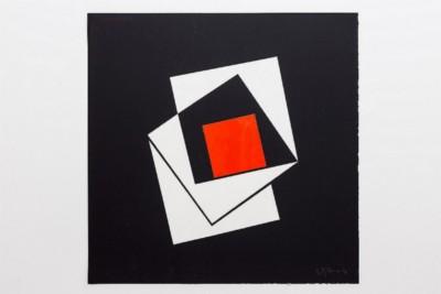 Dimensione quadrato, 1972, collage on paper, cm 50 x 50, photo: Danilo Donzelli