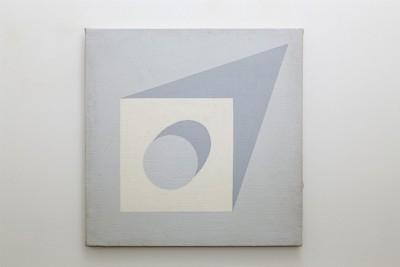 Atonal Painting, 1972, acrylic on juta, cm 75 x 75, photo: Danilo Donzelli
