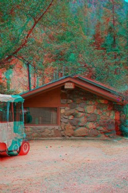 Rock House build by Ernst and Tanning, 2015, anaglyph, cm 60 x 40 ed. 3 + 2 AP