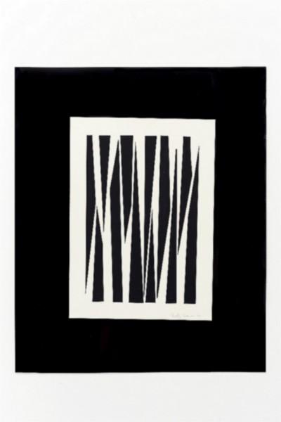 Giochi prospettici, 1972, collage on paper, cm 60 x 50, photo: Danilo Donzelli