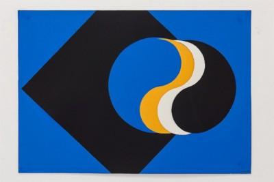 Yin-Yang, 1969-70, collage, cm 50 x 70, photo: Danilo Donzelli