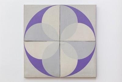 Atonal Painting, 1972, acrylic on juta, cm 60 x 60, photo: Danilo Donzelli