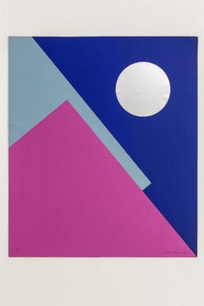 Esplorazione di cerchio e quadrato, 1970, collage on paper, cm 60 x 50, photo: Danilo Donzelli