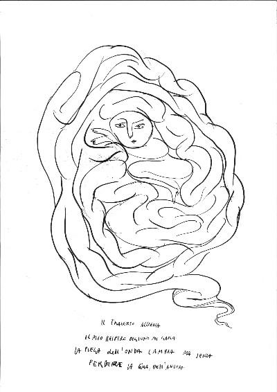 Sissi, Esisti-istinti, 2016, ink on paper, 42x29 cm (unframed) 52x39,5 cm (framed)