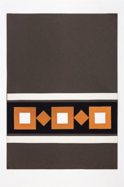 Dimensione quadrato, 1971, collage on paper, cm 70 x 50, photo: Danilo Donzelli