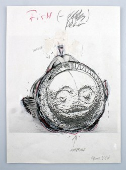 Pear Fish, 2013, collage on paper, cm 29,7 x 21