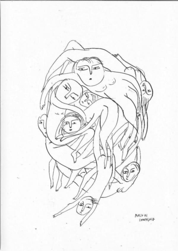 Estinti-Istinti, 2016, indian ink on paper, cm 42 x 29, photo: Danilo Donzelli