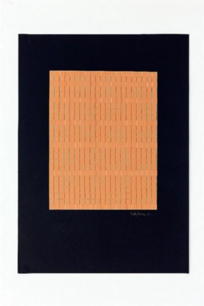 Giochi di linee, 1972 collage on paper, cm 70 x 50, photo: Danilo Donzelli