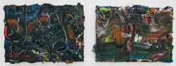 Senza titolo, 2012, oil on canvas, diptych, cm 25 x 35 (each)