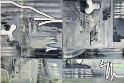 Hertz, 2008, oil on canvas, diptych, cm 200 x 150 (each)