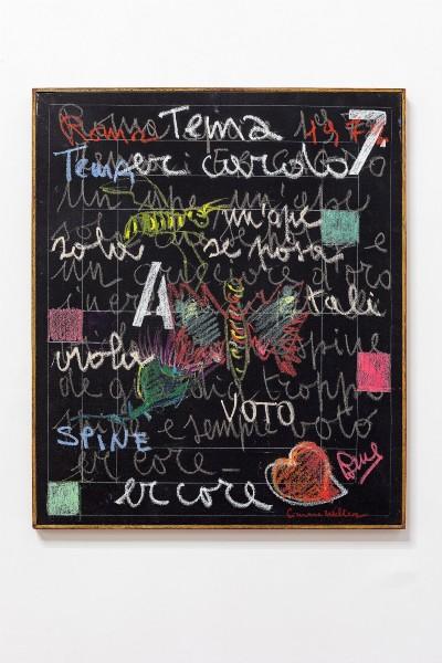 Simona Weller, Er cardo, 1972, pastels on canvas, cm 64 x 54 (unframed), cm 65,5 x 55,5(framed)