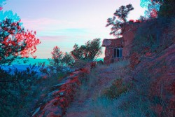 The Ernst's hut side view, 2014-2015, anaglyph, cm 40 x 60, ed. 3 + 2 AP