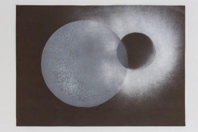 Dimensione cerchio, 1969-72, spray on paper, cm 50 x 70, photo: Danilo Donzelli
