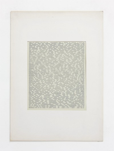 Partitura asemantica, 1973, indian ink on tracing paper, indian ink on paper, cm 73 x 53(framed), cm 70 X 50 (unframed), photo: Danilo Donzelli
