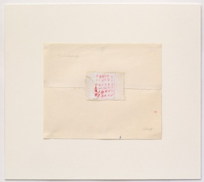 Two Handkerchiefs, 1975, gouache and pencil on paper, cm 18 x 23 (sheet); cm 39,5 x 35 (framed), photo: Danilo Donzelli