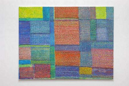 Simona Weller, Spazi inediti, 2007 - 2009, pastelli su tela / pastels on canvas, cm 166 x 212