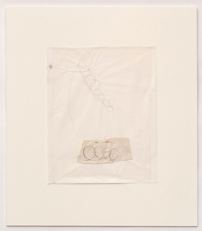 Untitled, 1977-1978, pencil and thread on paper, cm 25 x 20 (sheet); cm 42 x 37 (framed), photo: Danilo Donzelli
