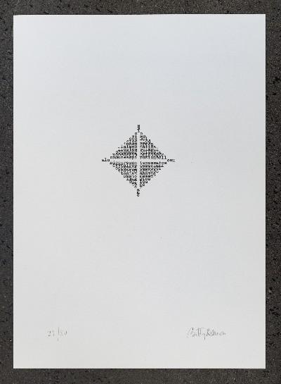 Poesie nel quadrato, 1973, n. 5 litographs, cm 34,5 x 25 (unframed)