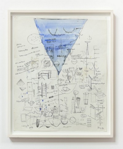 Untitled, 1979, ink, pencil, and paint on paper, cm 63 x 51.5 (sheet); cm 70,5 x 59 (framed), photo: Danilo Donzelli