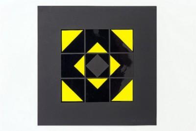 Dimensione quadrato, 1971, collage on paper, cm 50 x 50, photo: Danilo Donzelli