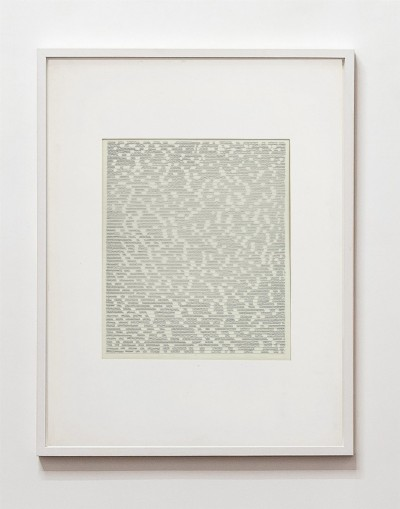 Partitura asemantica, 1973, indian ink on tracing paper, indian ink on paper, cm 73 x 53(framed), cm 70 X 50 (unframed) photo: Danilo Donzelli