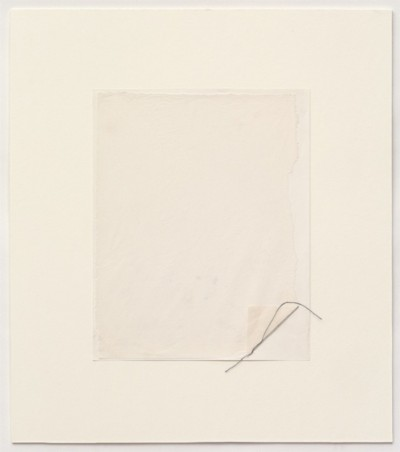 Untitled, 1977-1978, pencil and thread on paper, cm25 x 20 (sheet); cm 42 x 37 (framed), photo: Danilo Donzelli