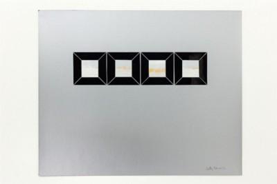 Finestre di cielo, 1972, collage and acrylic on paper, cm 50 x 60, photo: Danilo Donzelli