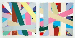 Senza titolo (V), 2010, oil on canvas, diptych, cm 30 x 30 (each)