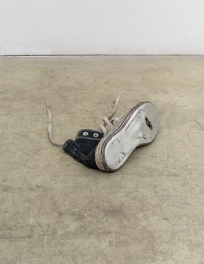 Anche i fantasmi producono ombre, 2018, Converse All Star shoe, molded in zama, cm 28 x 11 x 20