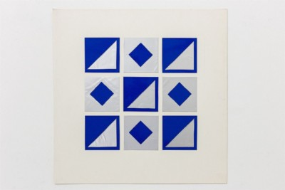 Dimensione quadrato, 1970, collage on paper, cm 50 x 50, photo: Danilo Donzelli