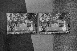 At Jan's dinner, a strabic view of the Ernst house, 2015 black and white photo, cm 40 x 60 ed. 3 + 2 AP