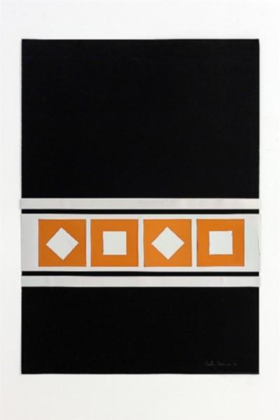 Dimensione quadrato, 1971, collage, cm 70 x 50, photo: Danilo Donzelli