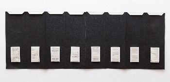 Parole in dissolvenza, 1973, ink on paper, cm 40 x 139, photo: Danilo Donzelli