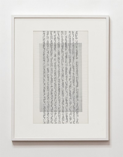 Partitura asemantica, 1973, indian ink on tracing paper, indian ink on paper, cm 53 x 35 (framed), cm 50 X 35 (unframed), photo: Danilo Donzelli