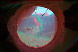 From the Ernst's hut, 2015, anaglyph, cm 40 x 60 ed. 3 + 2 AP