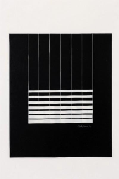 Finestre di cielo, 1972, collage and acrylic on paper, cm 60 x 50, photo: Danilo Donzelli
