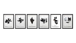 The Third Degree Scores, 2016, n. 6 inkjet prints with collaged elements cm 59,5 x 34,5 each (framed)