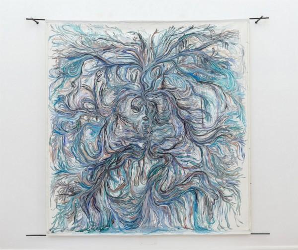 Venoso di mare, 2016, acrylic on canvas, iron, cm 230 x 260, photo: Danilo Donzelli
